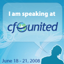 Speaking at CFUNITED 2008