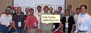 annotated picture of bloggers