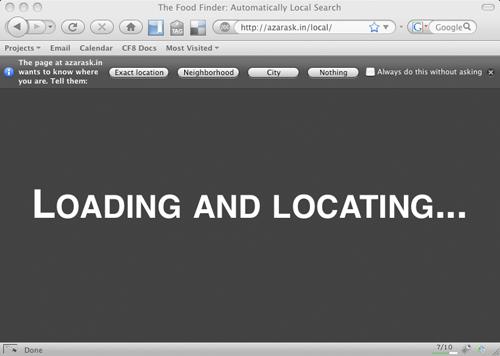 Screen shot of geode firefox plugin for location data