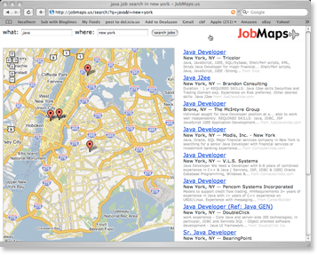 job maps screenshot