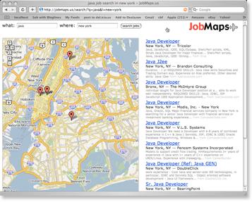 job maps screenshot