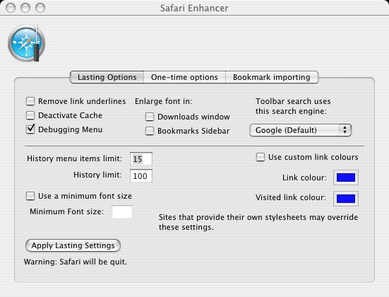 Safari Enhancer Screen Shot